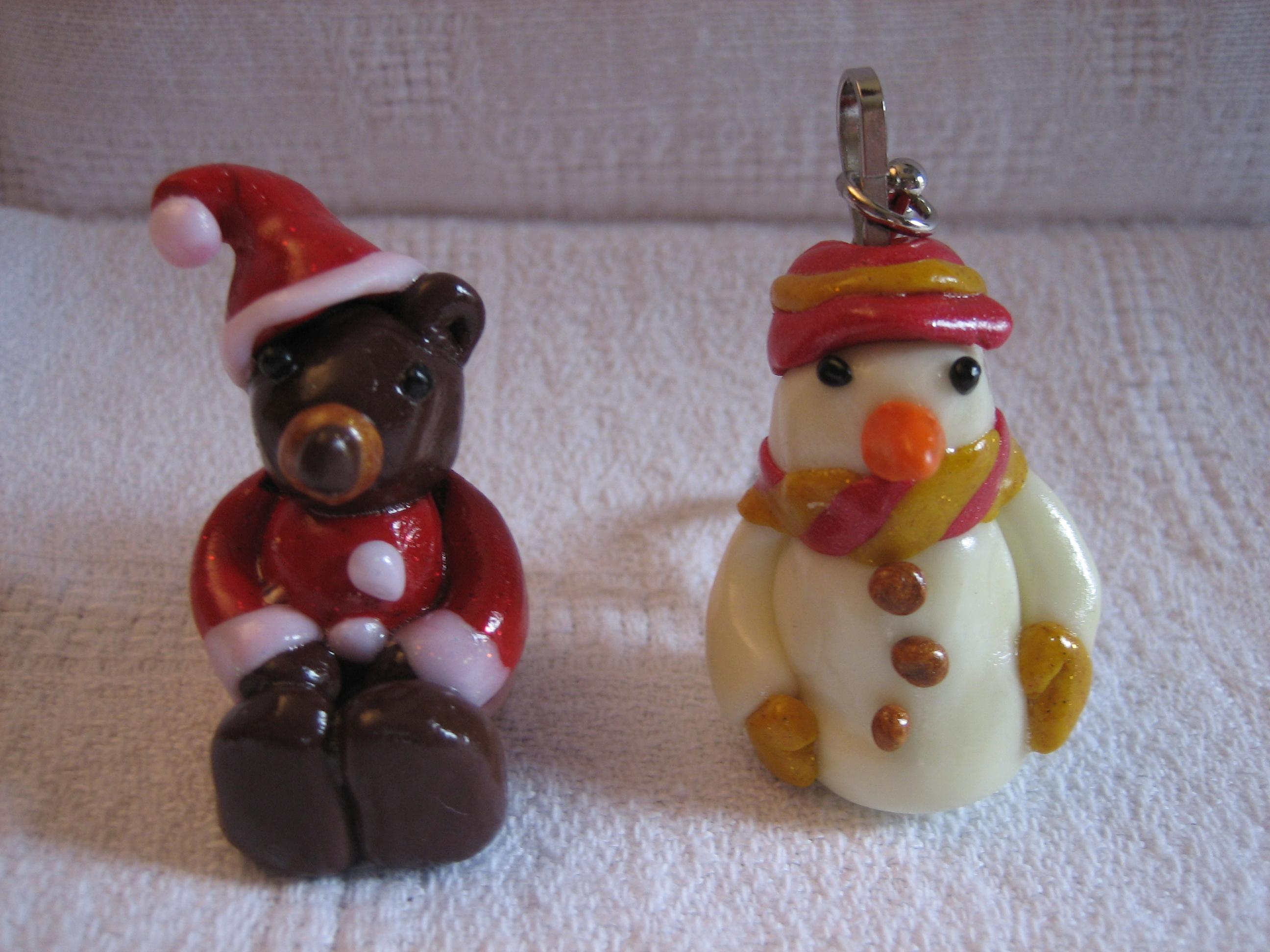 bonhomme de neige et ours de noel